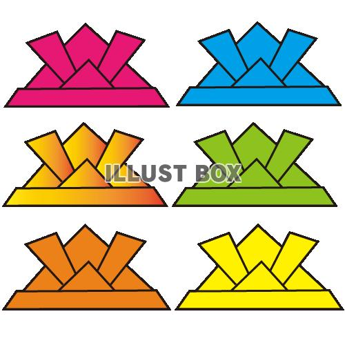 クリスマス 折り紙 折り紙 かぶと : illust-box.jp