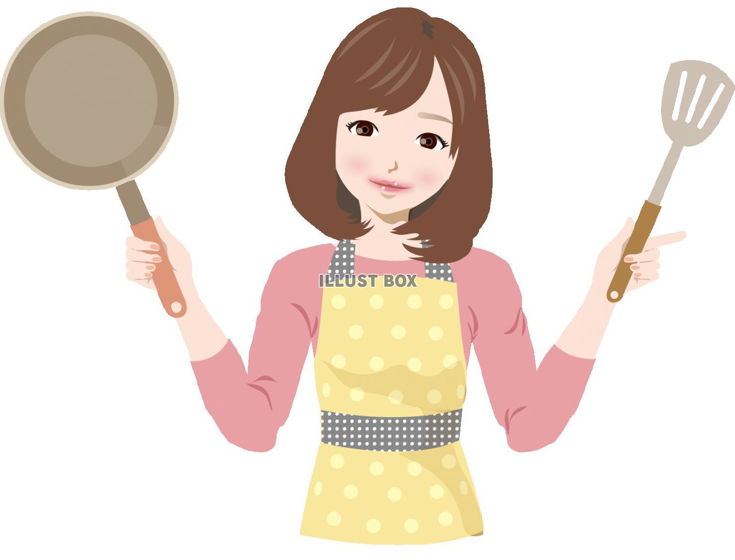 無料イラスト お母さん お料理