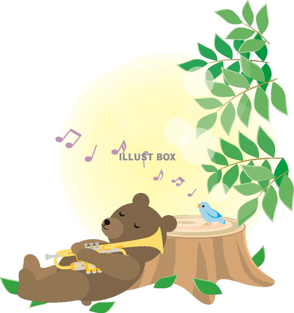 無料イラスト 森の動物の音楽2