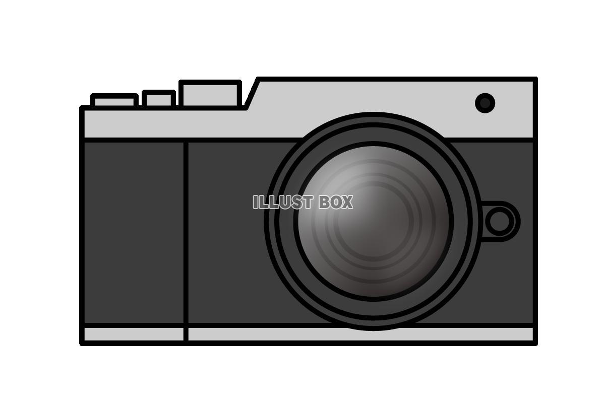 無料イラスト ミラーレス一眼カメラのイラスト2 (透過png)