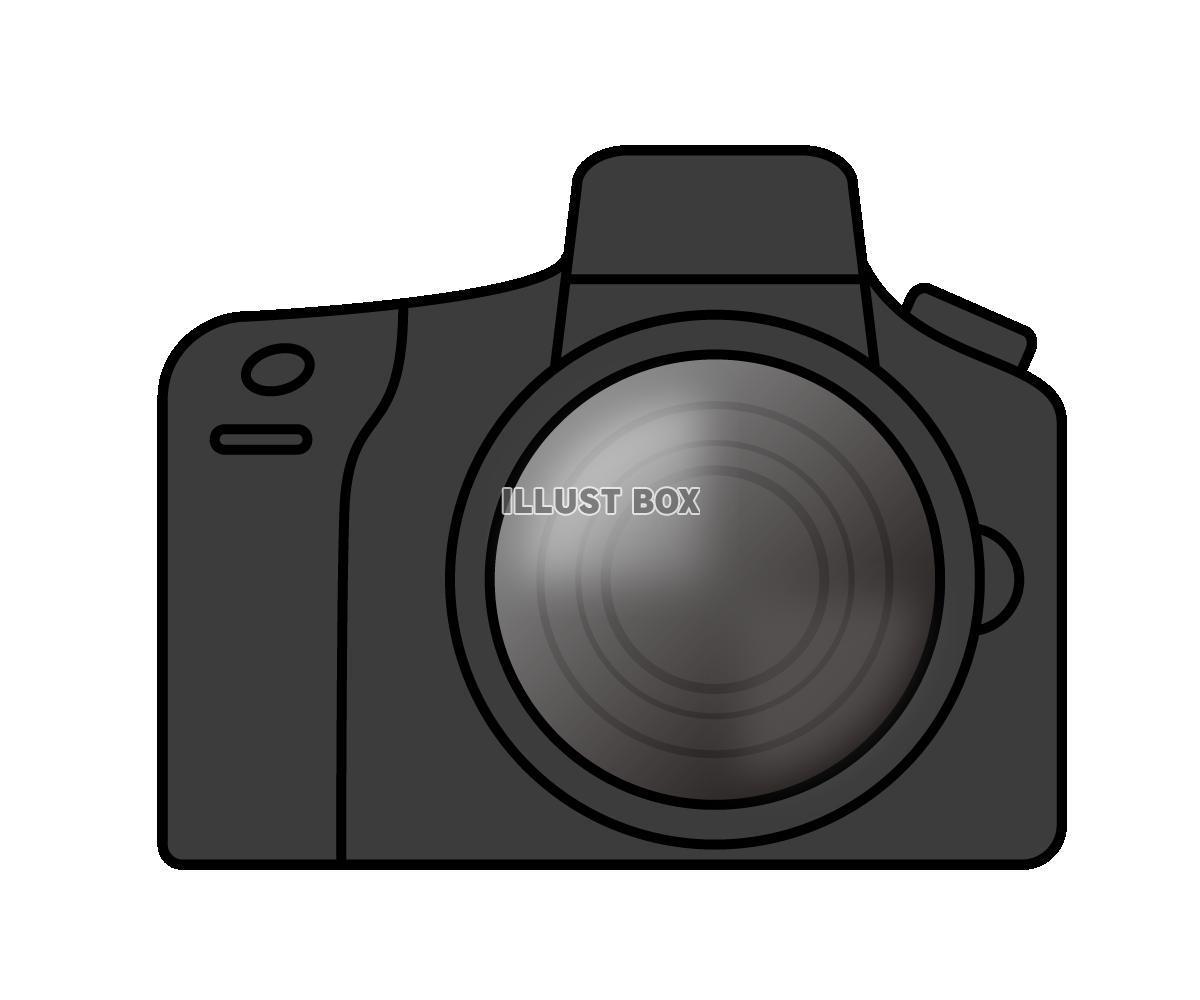 無料イラスト 一眼レフカメラのイラスト1 (透過png)