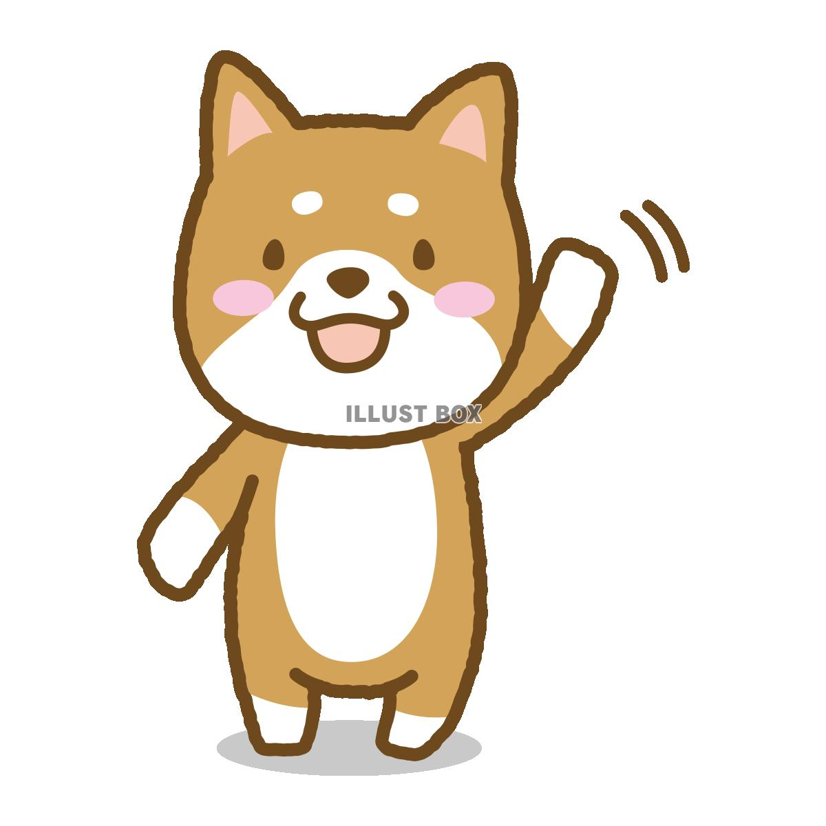 無料イラスト 柴犬