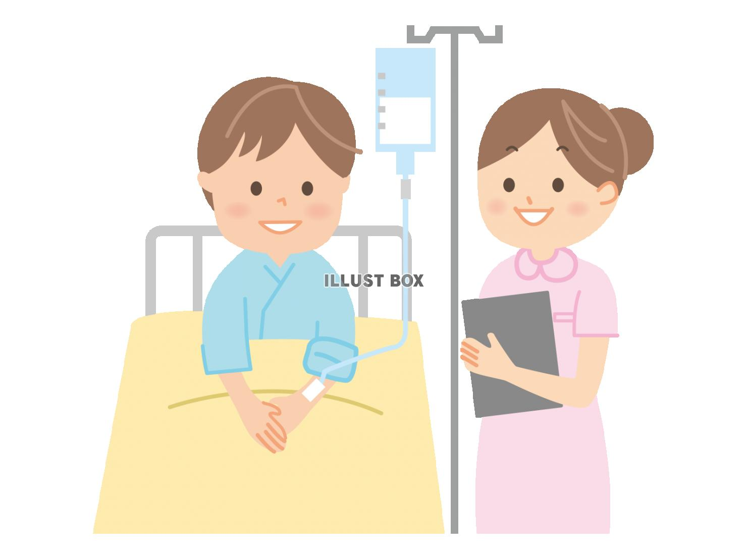 無料イラスト 入院患者