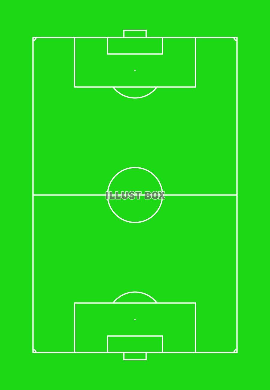 無料イラスト サッカーグラウンド1