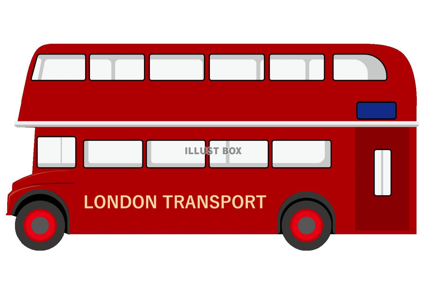 無料イラスト ロンドンバス