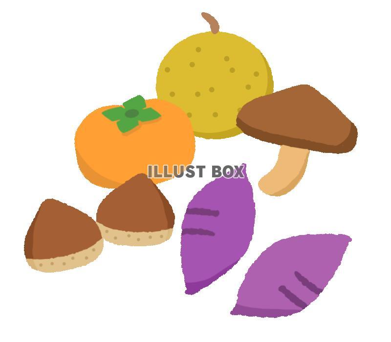 無料イラスト 秋の食べ物 透過png