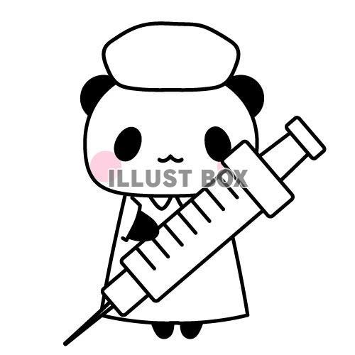 無料イラスト 看護師ナースなパンダちゃんのイラスト