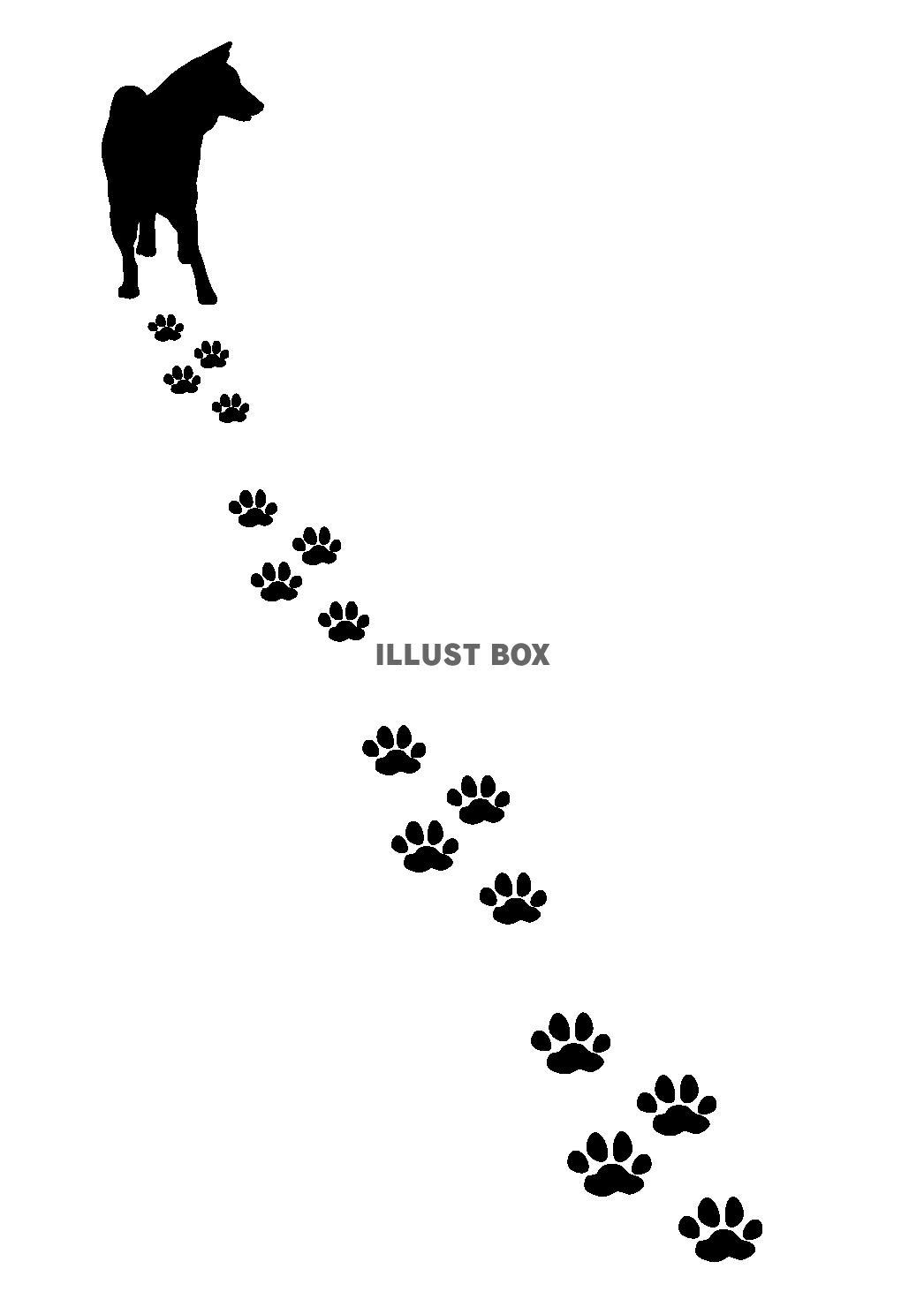 無料イラスト 犬の足跡