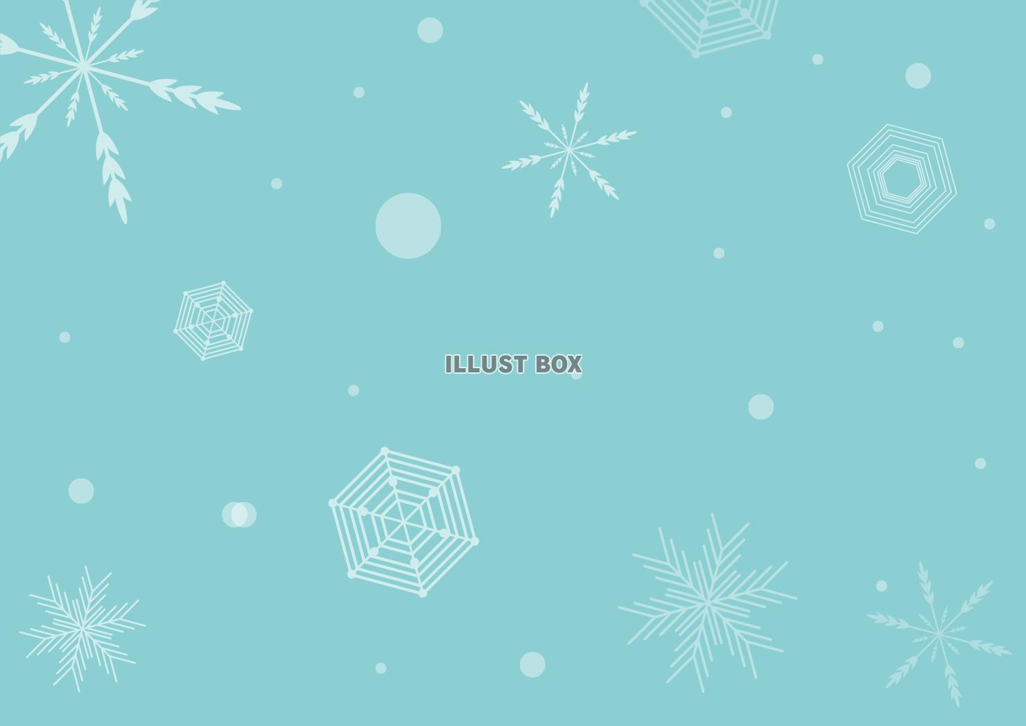 無料イラスト 雪の結晶背景a