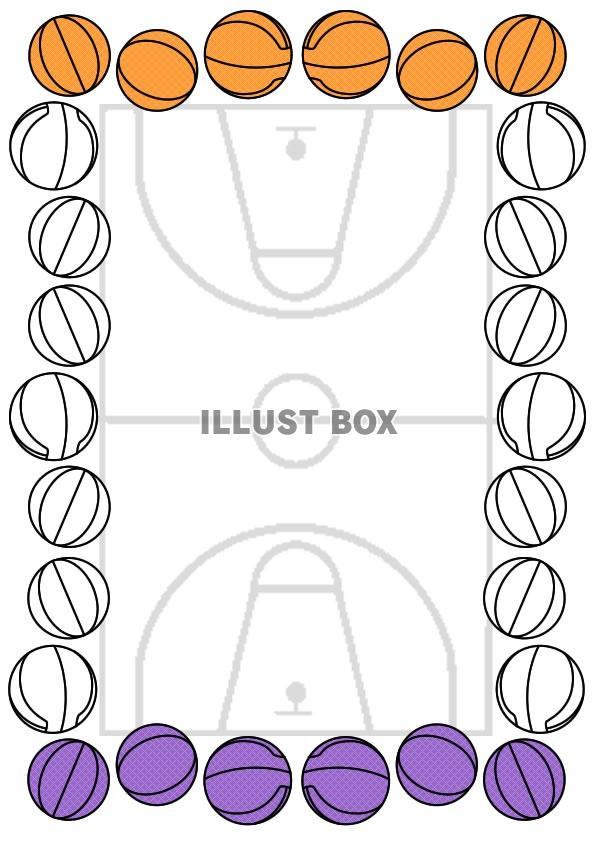 無料イラスト バスケットボール表彰状縦型イラスト7