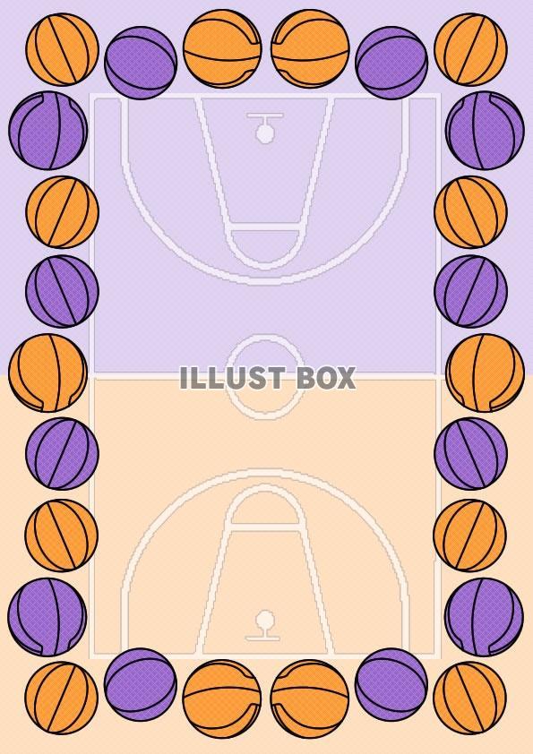 無料イラスト バスケットボール表彰状縦型イラスト8
