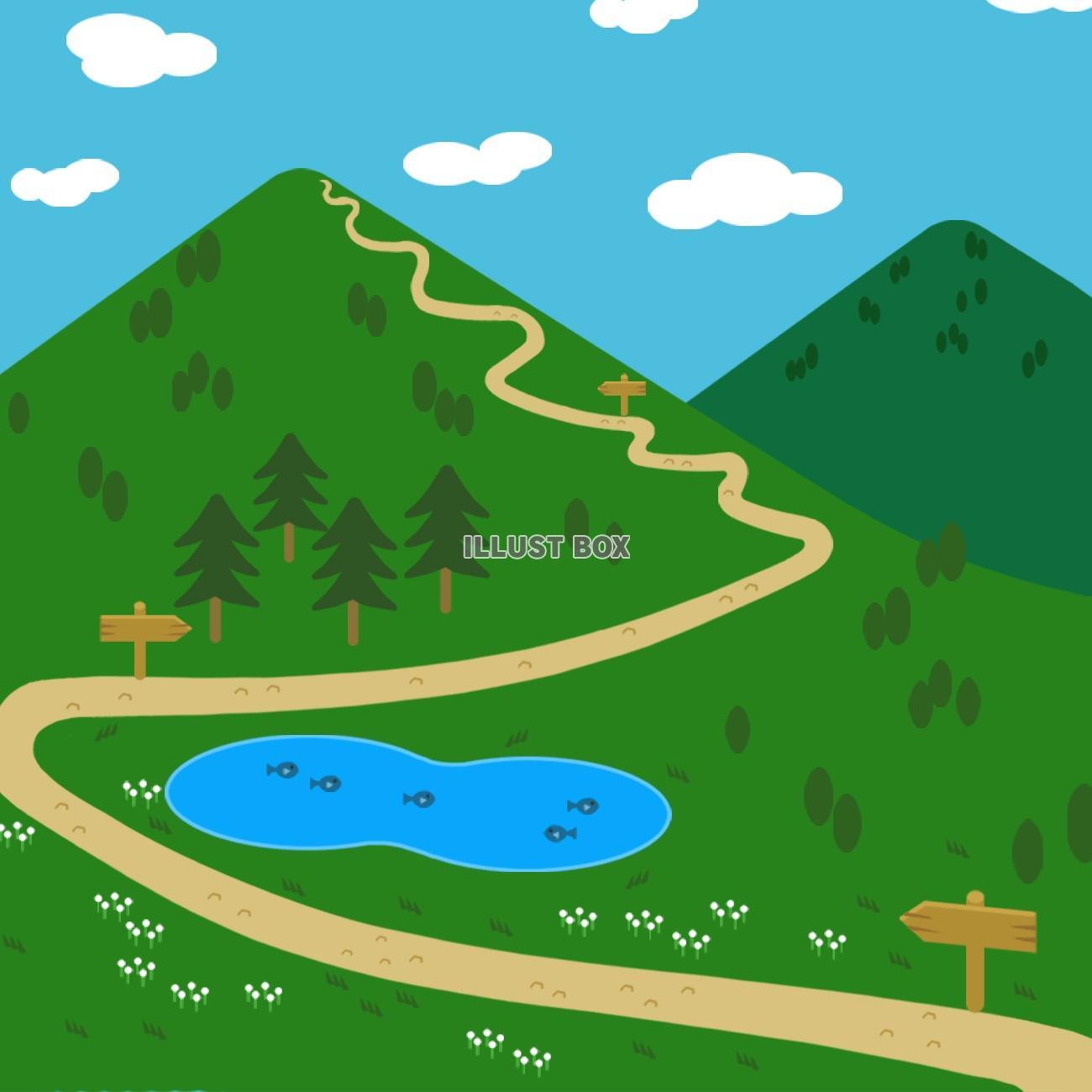 無料イラスト 山の景色