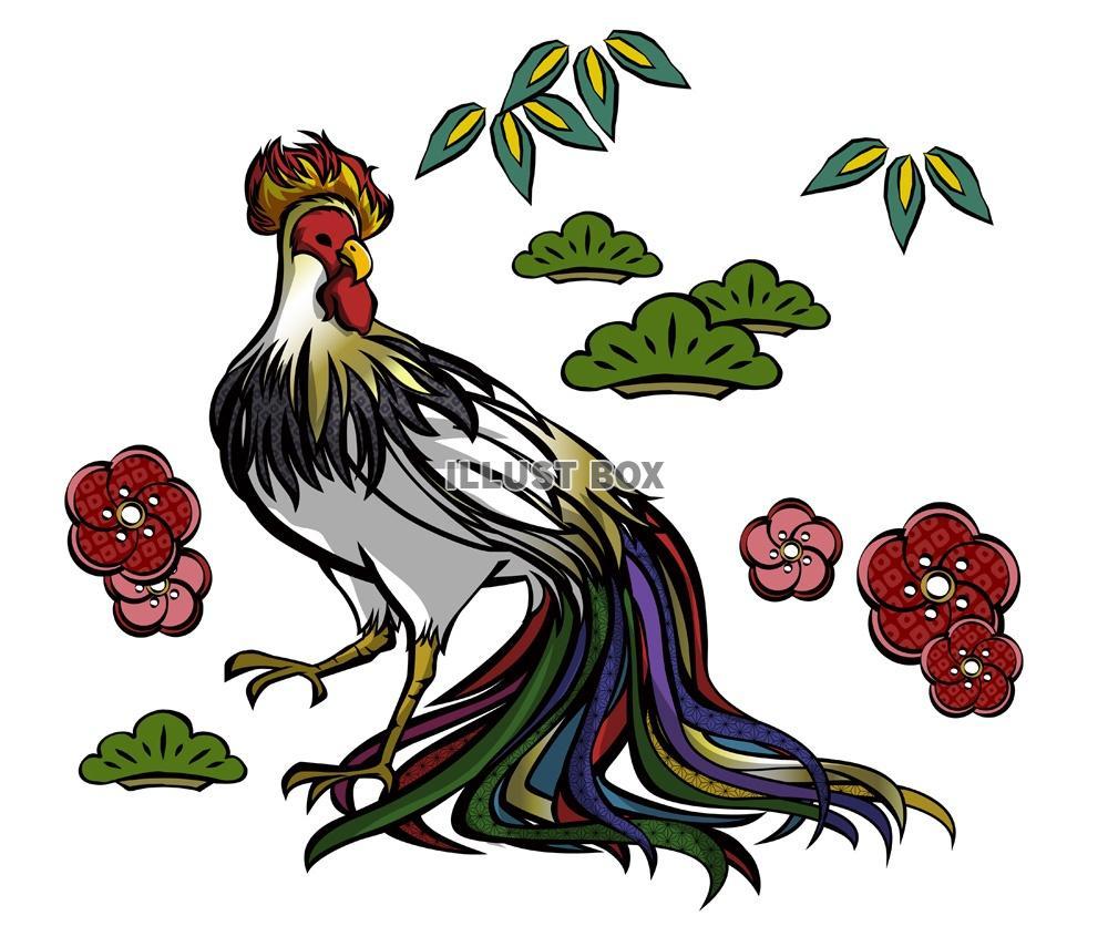 無料イラスト カッコいい鶏のイラスト