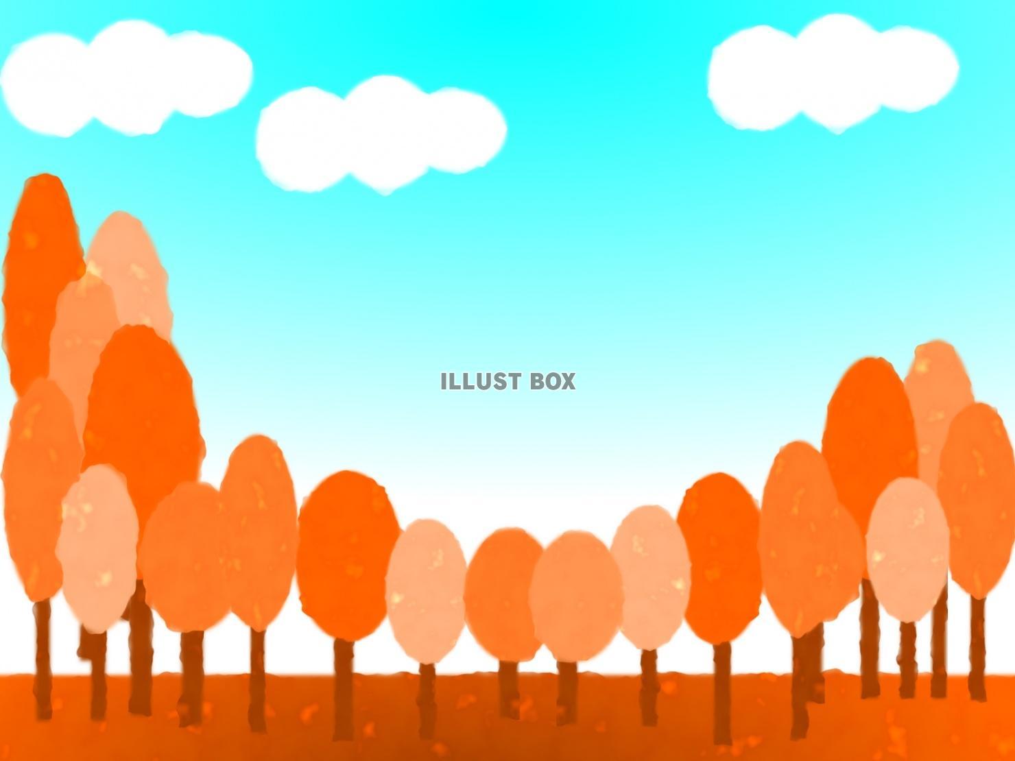 無料イラスト 秋の風景 背景素材