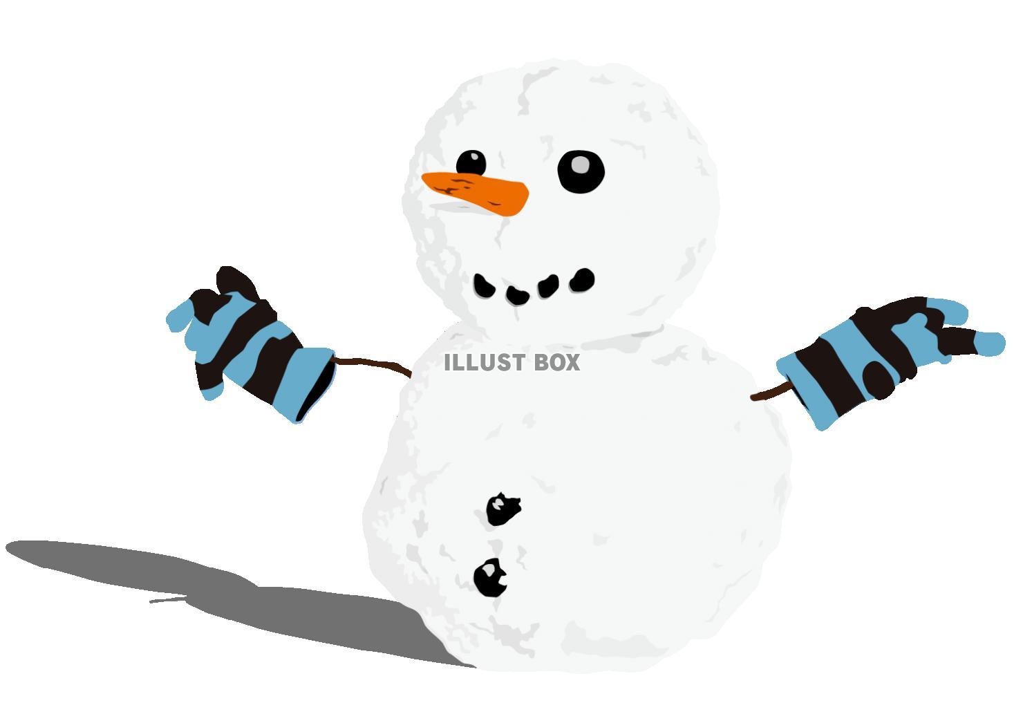 無料イラスト 雪だるま
