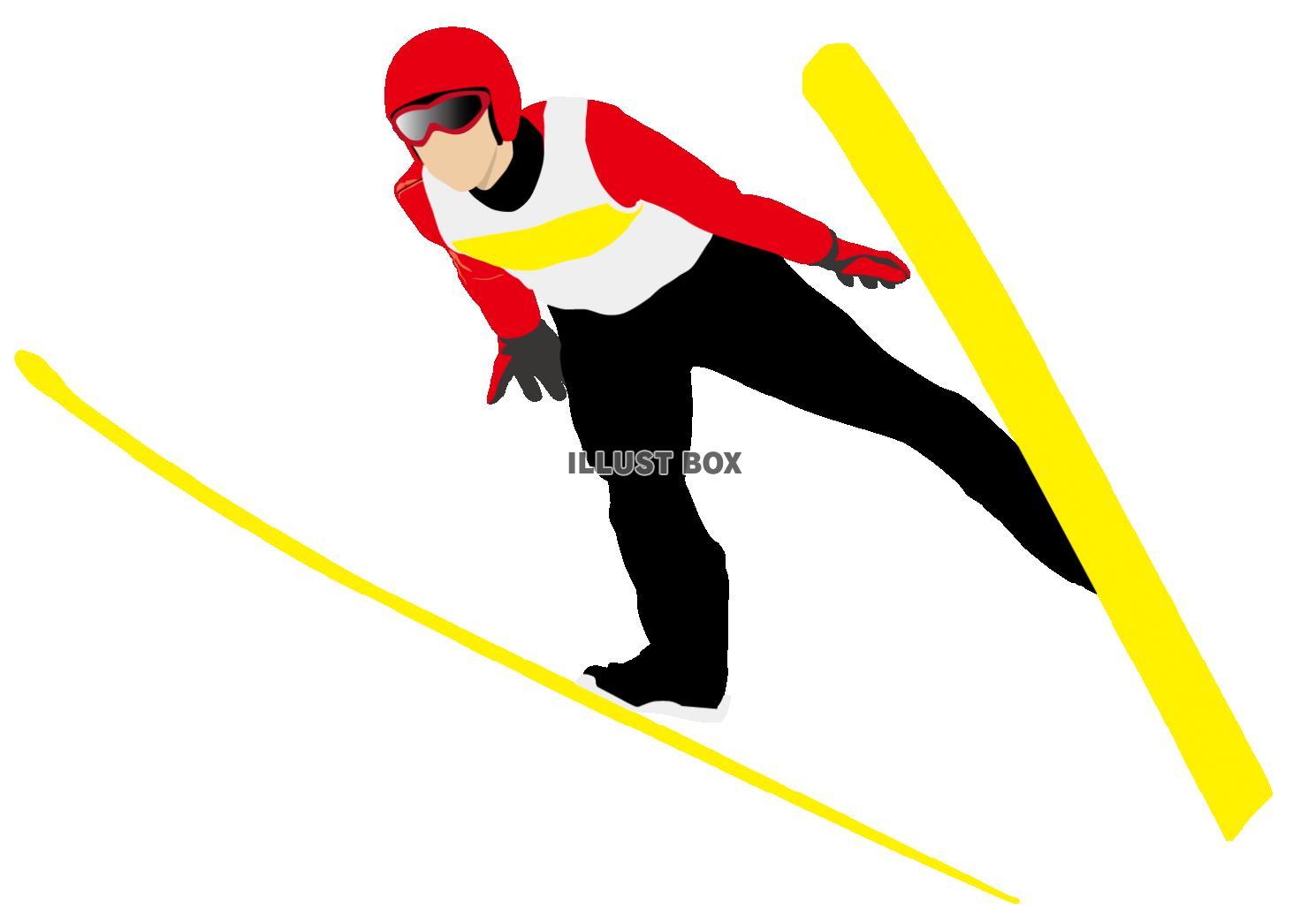 スキージャンプ イラスト