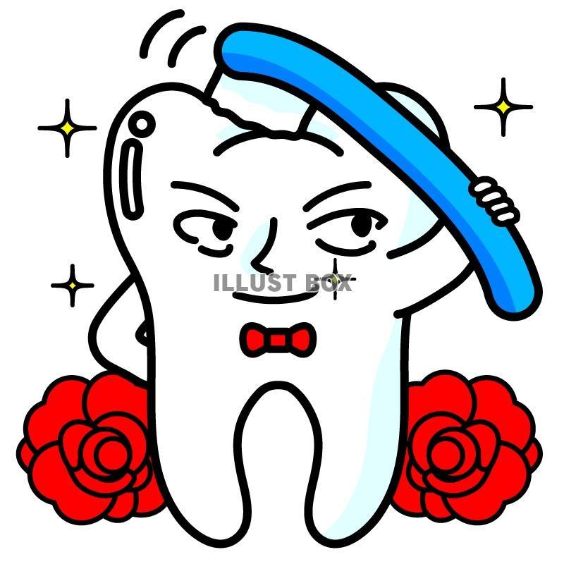 美しくイケメンな歯のイラスト