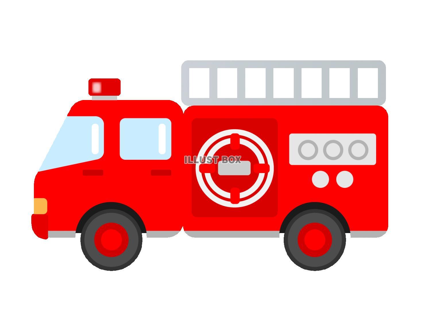 無料イラスト 消防車