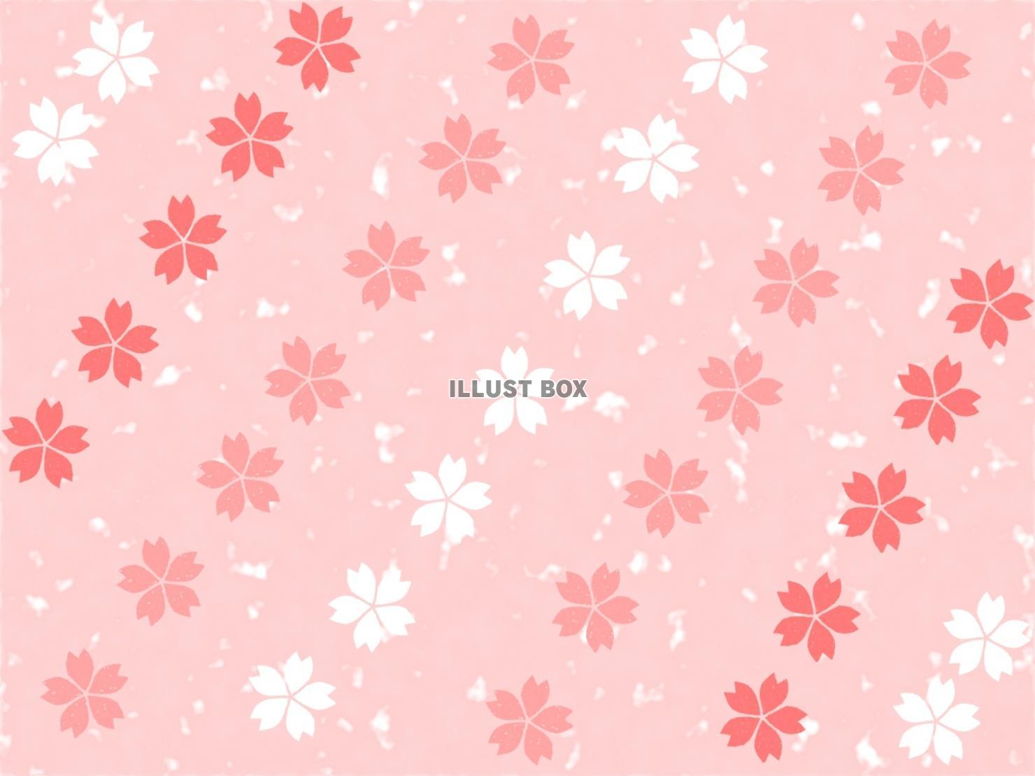 無料イラスト 桜柄ピンク背景