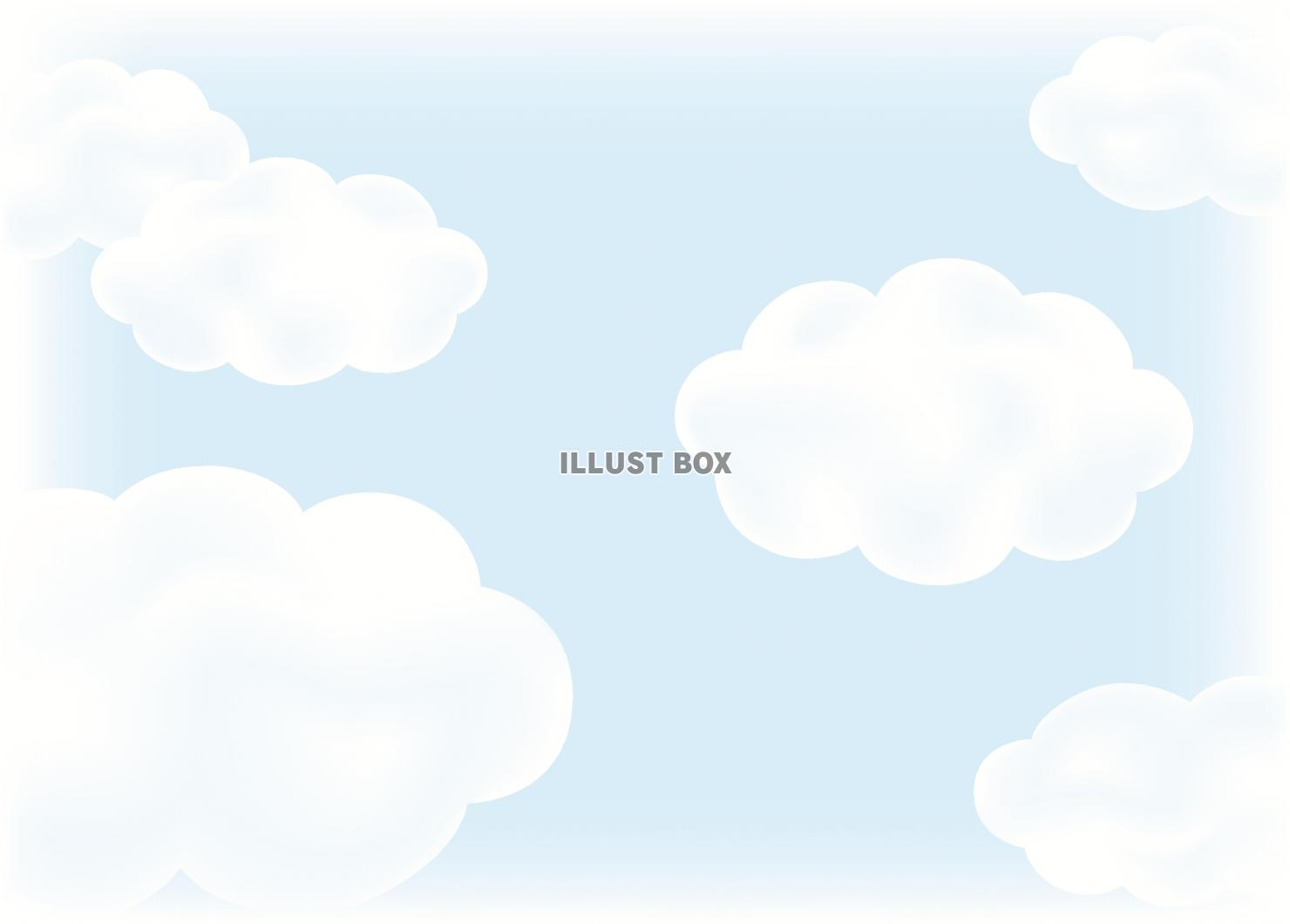 無料イラスト 雲がある背景
