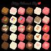 バレンタインのチョコレートセット