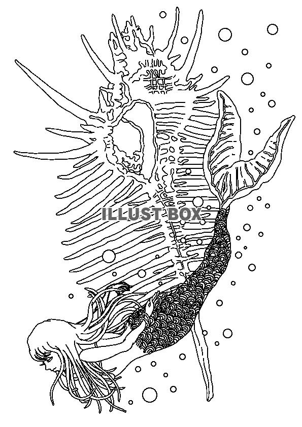 無料イラスト 人魚姫