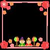 ひな祭りと梅フレーム 透過png