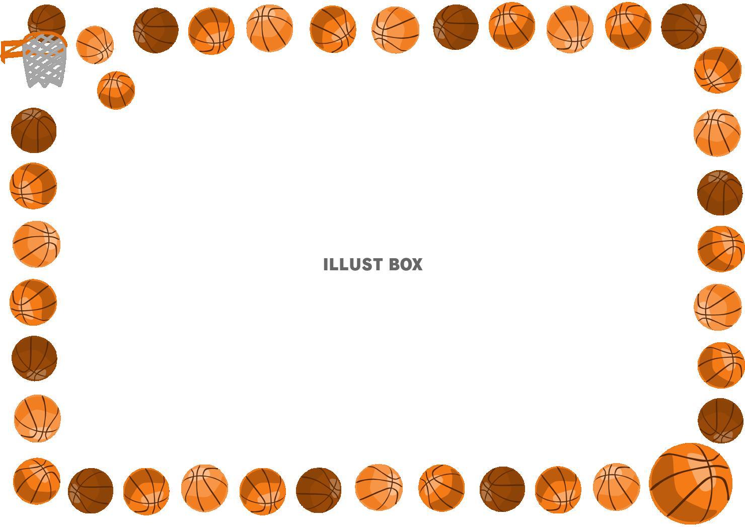 無料イラスト バスケットボールのフレーム