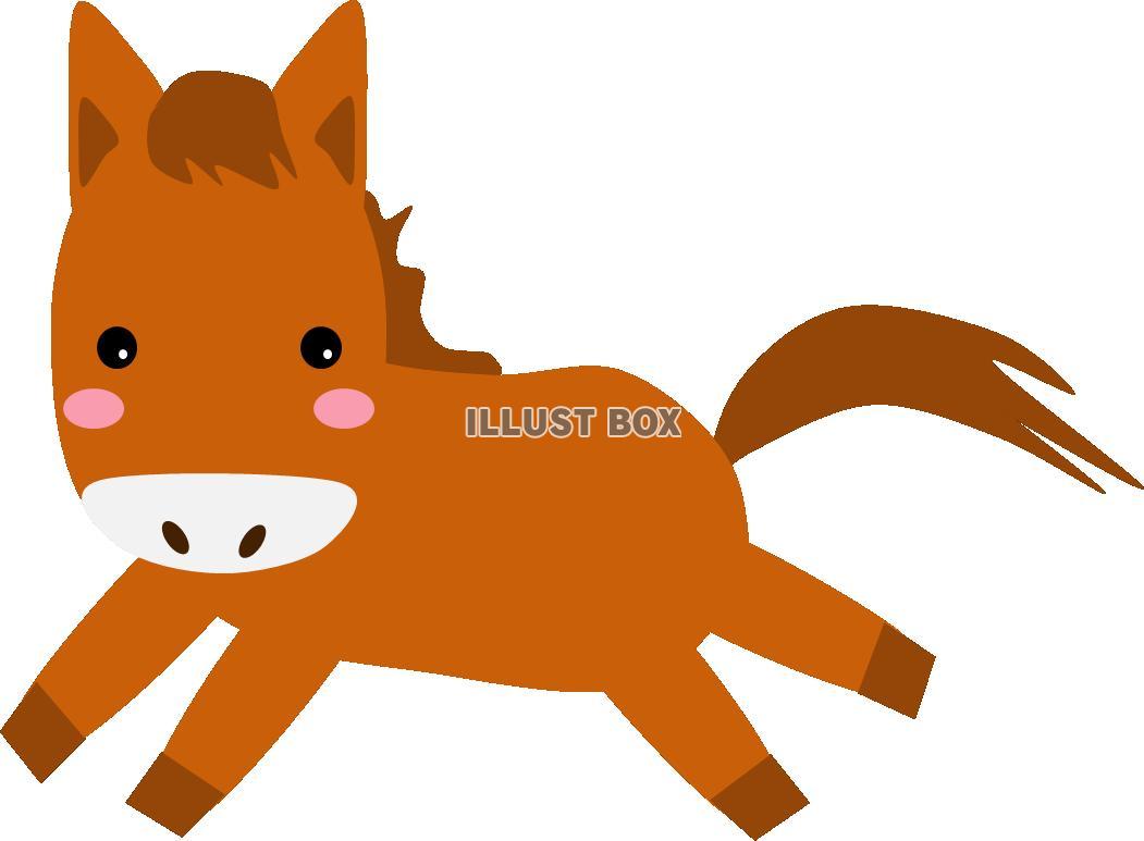 無料イラスト 走る馬