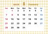 2018年カレンダー・1月