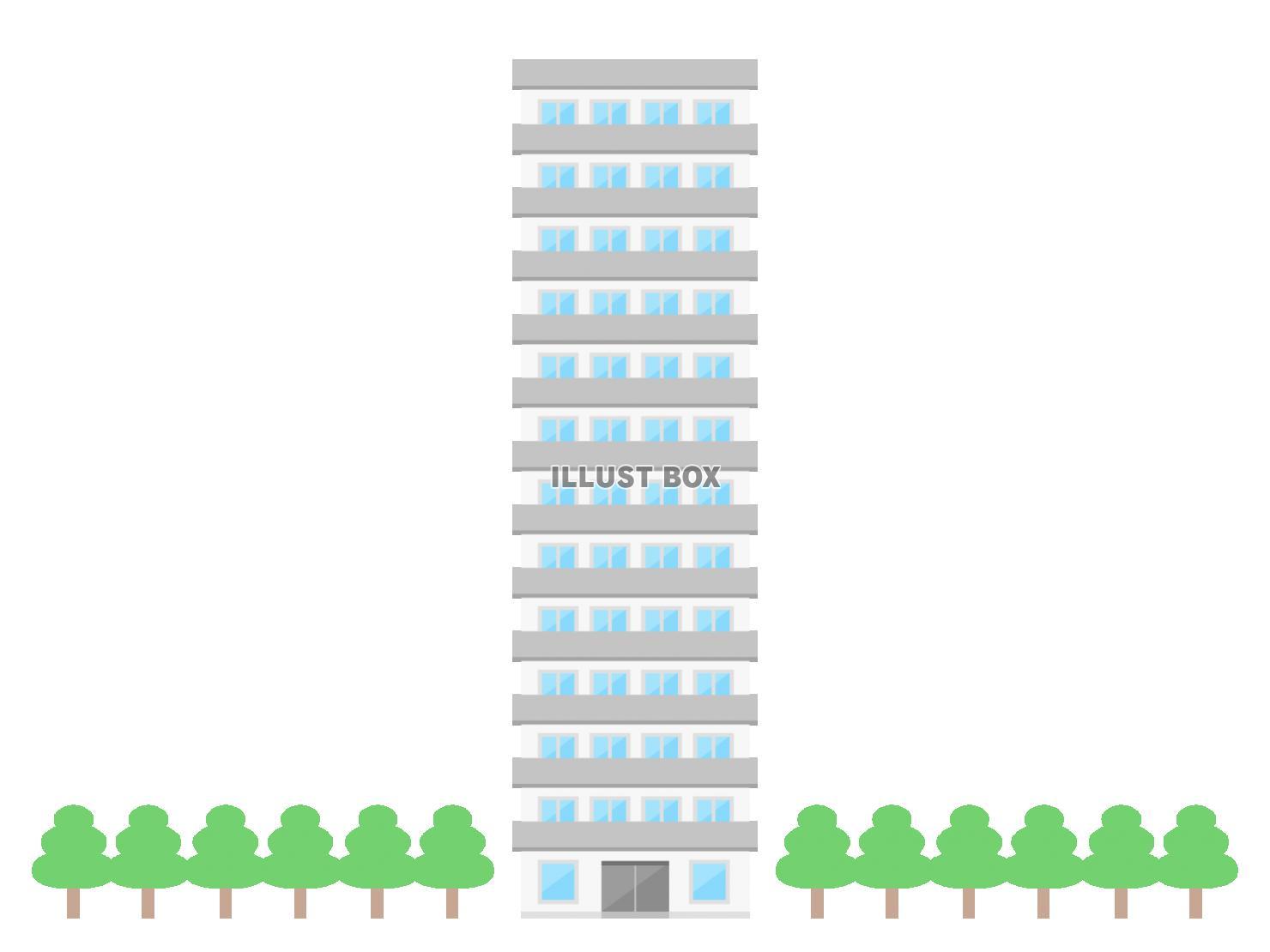 タワーマンション イラスト
