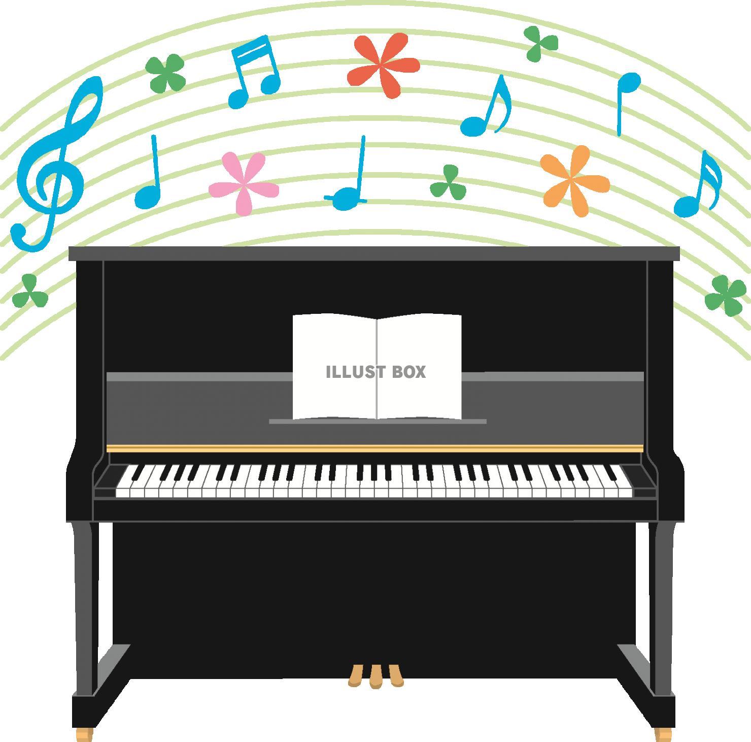 無料イラスト アップライトピアノのイラスト