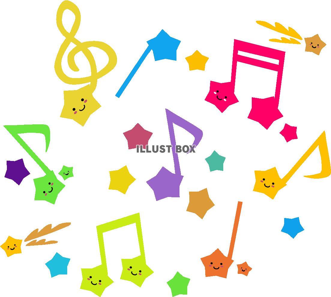 無料イラスト 星の音符