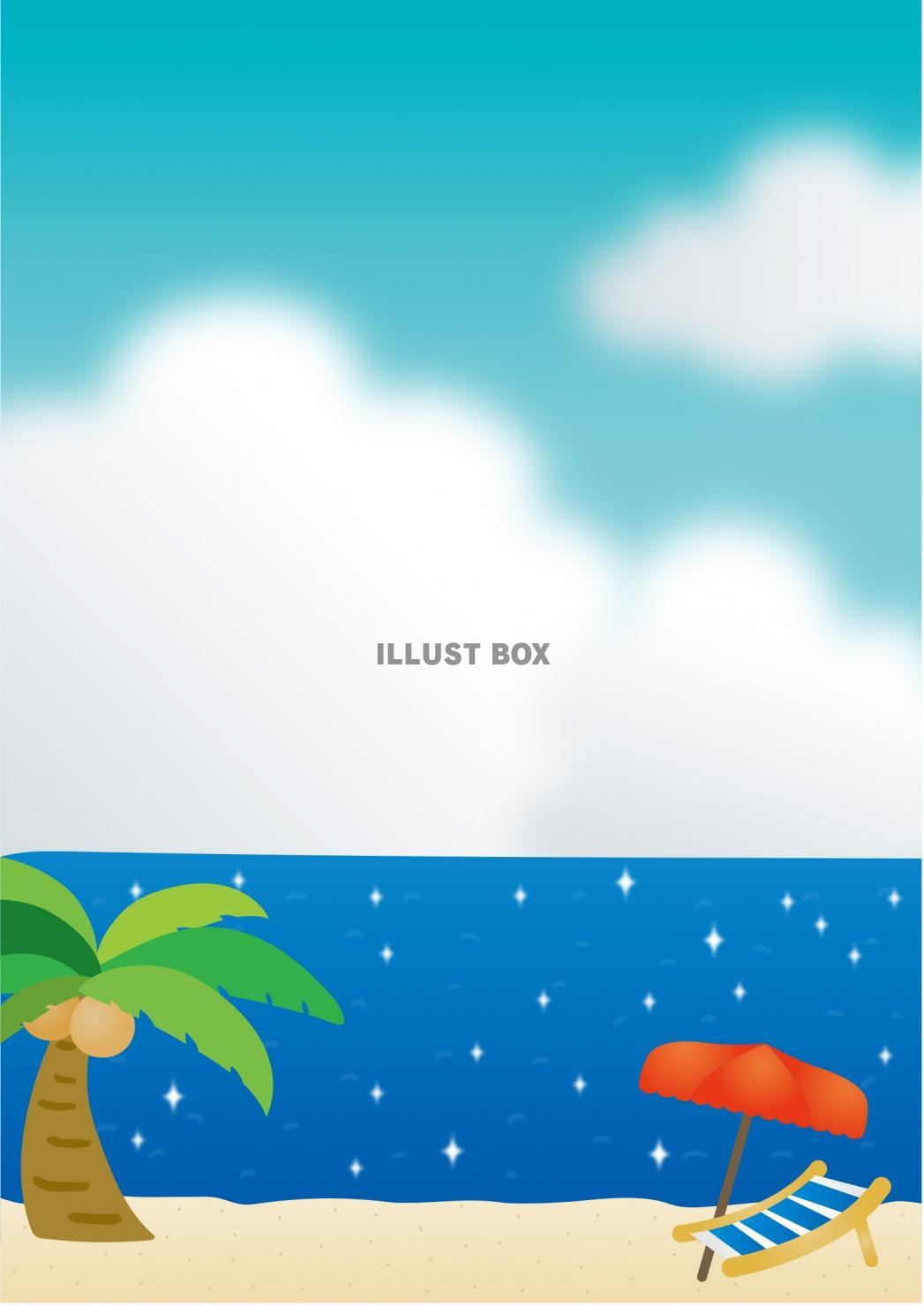 無料イラスト 夏の海イメージ
