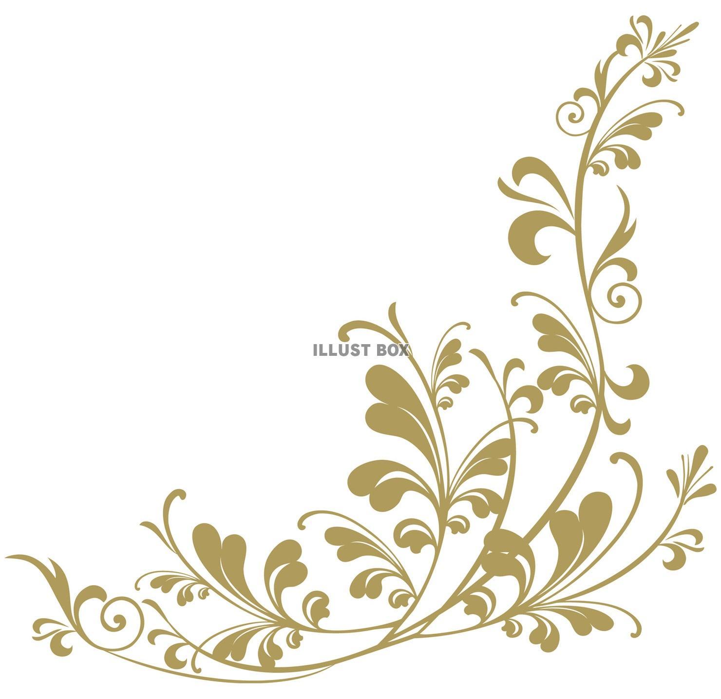 無料イラスト クラシックフレーム枠ヨーロピアン飾り枠装飾枠飾り
