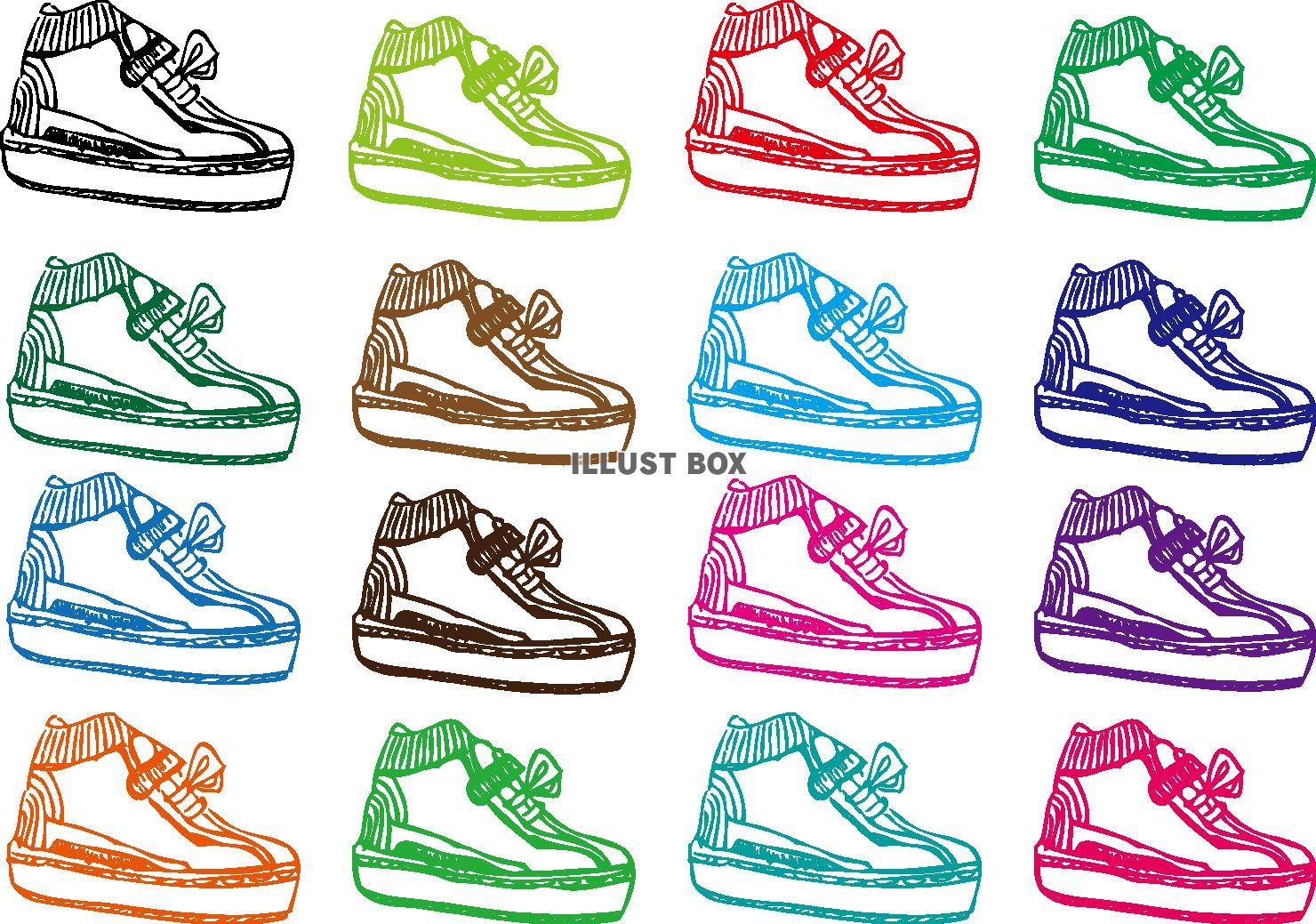 無料イラスト 【透過PNG画像透過png画像】運動靴スニーカー