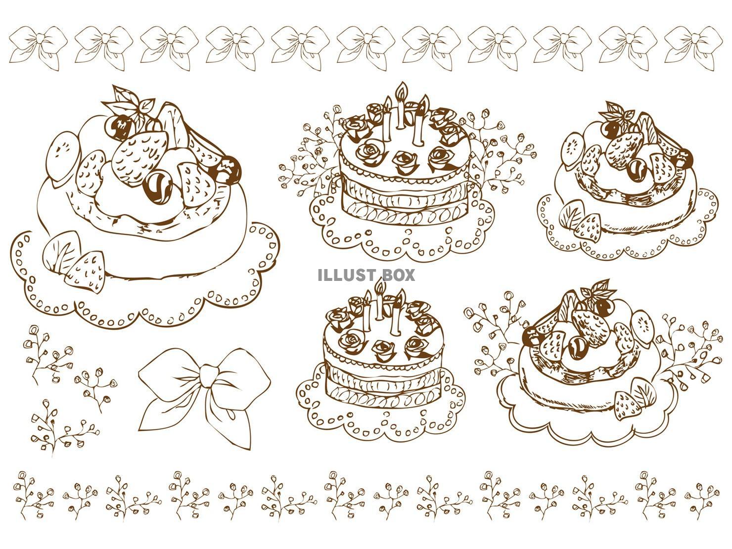 無料イラスト 誕生日ケーキカフェパンケーキウェディング手書誕生日ケーキおめ