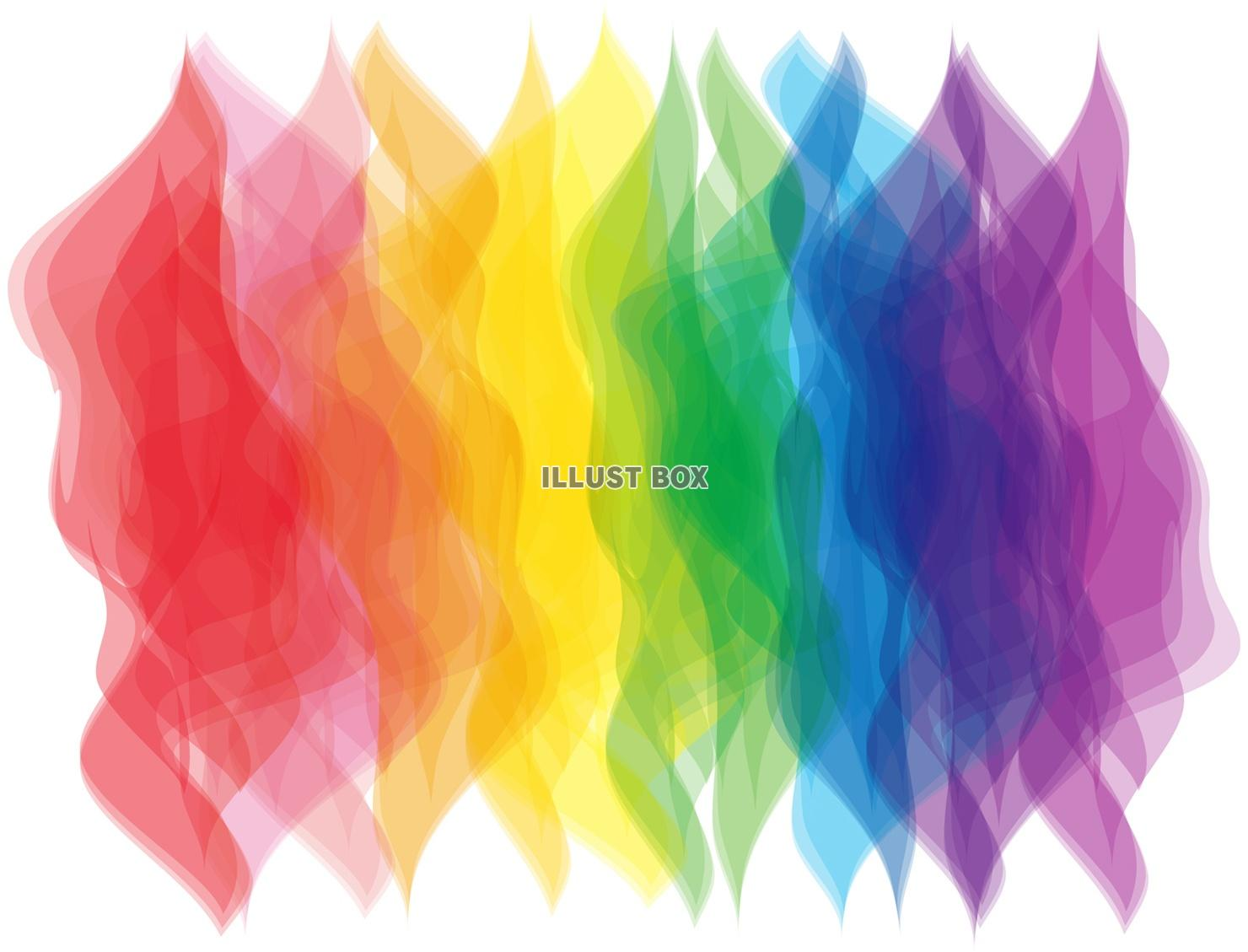 無料イラスト 虹色七色7色にじ色壁紙レインボーカラー赤色レッド暖色