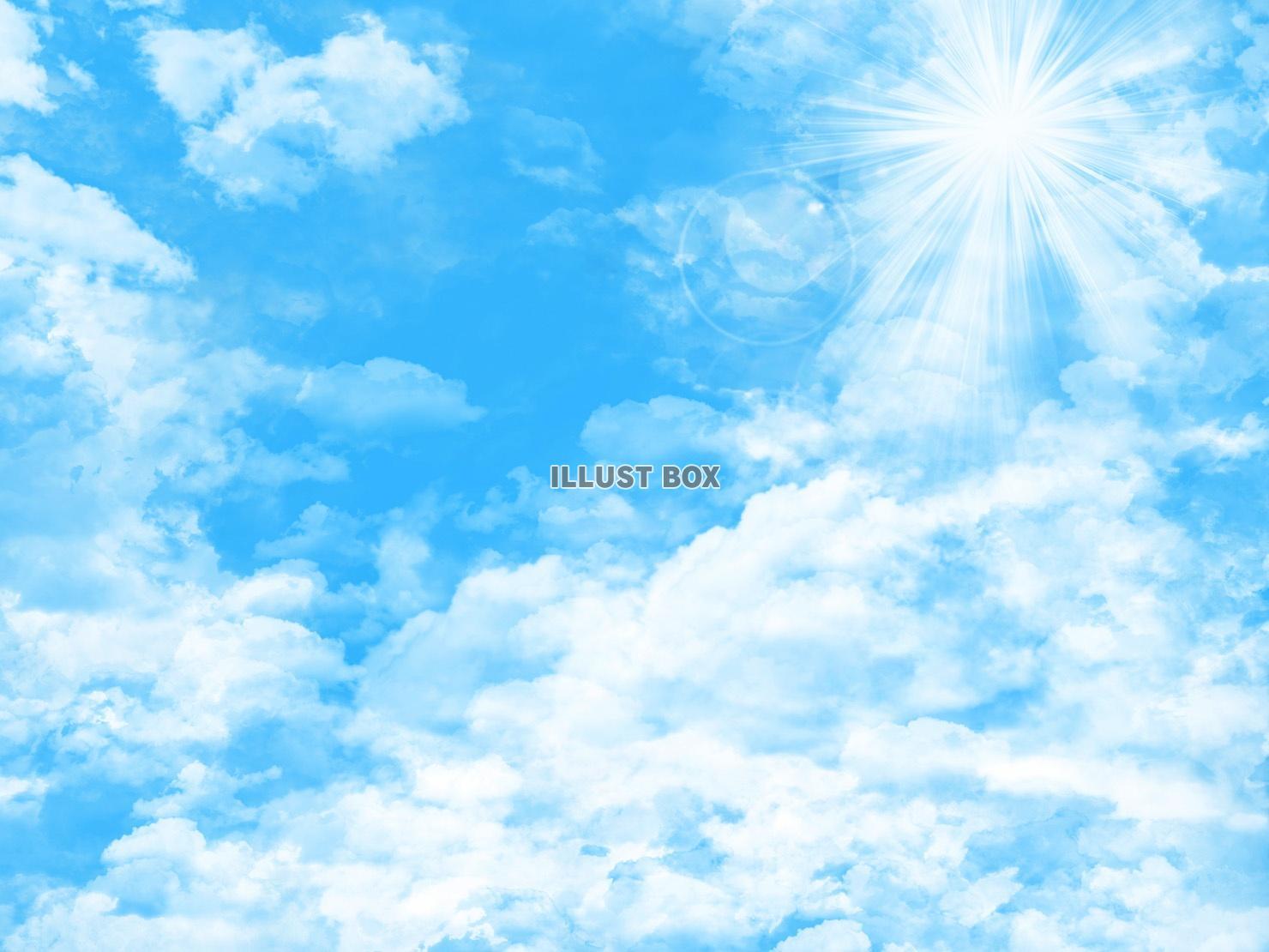 無料イラスト 青空背景素材壁紙素材メッセージスペース日中昼縦寒色
