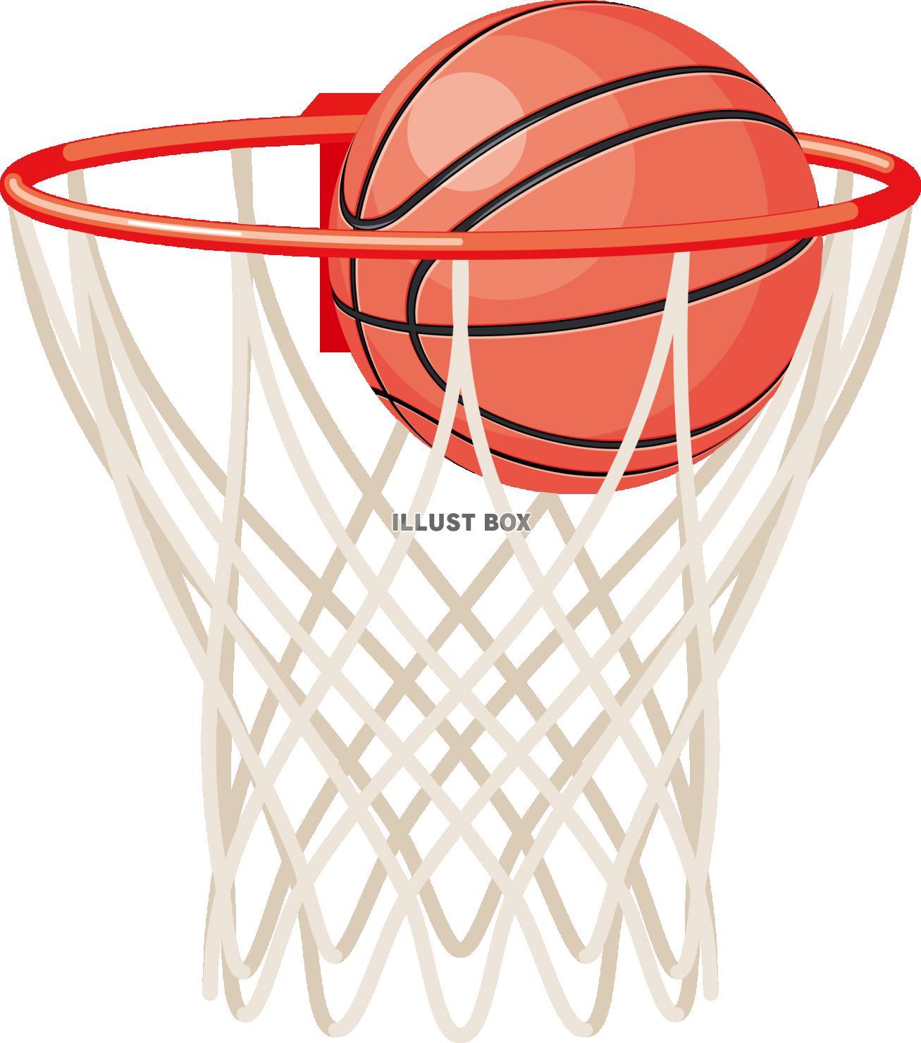 無料イラスト バスケットボール シュート