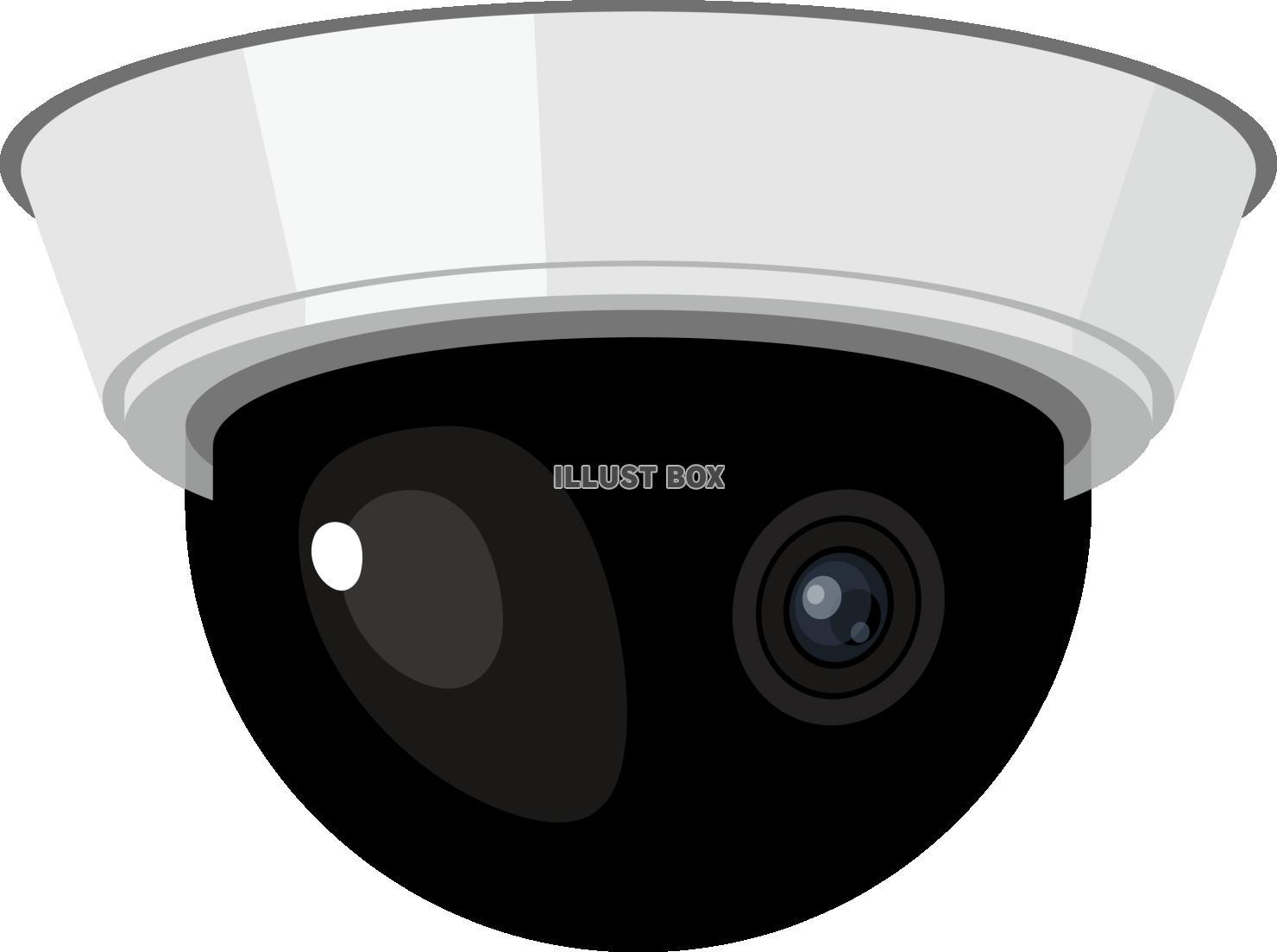 無料イラスト 防犯カメラ ドーム型