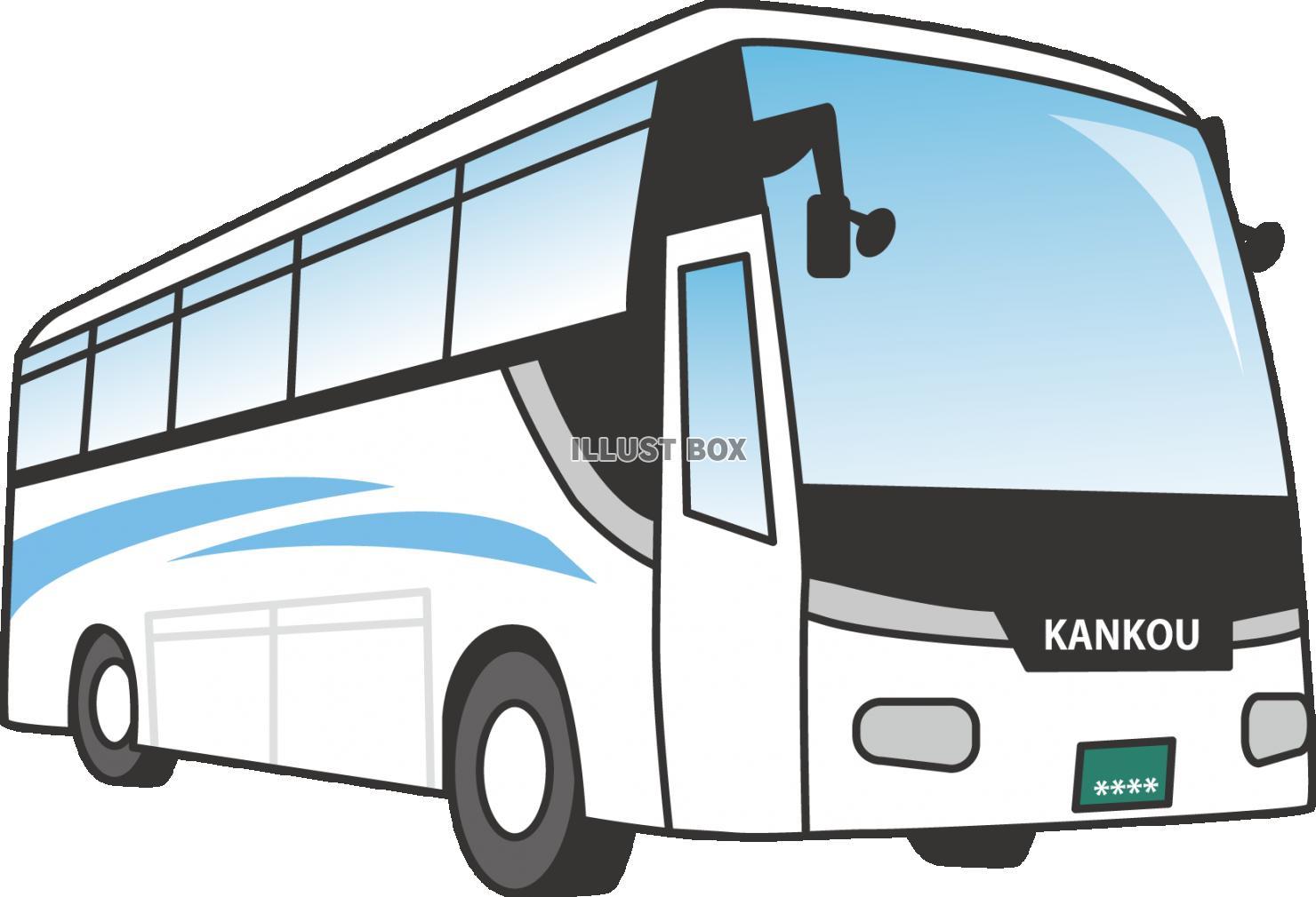 無料イラスト 観光バス