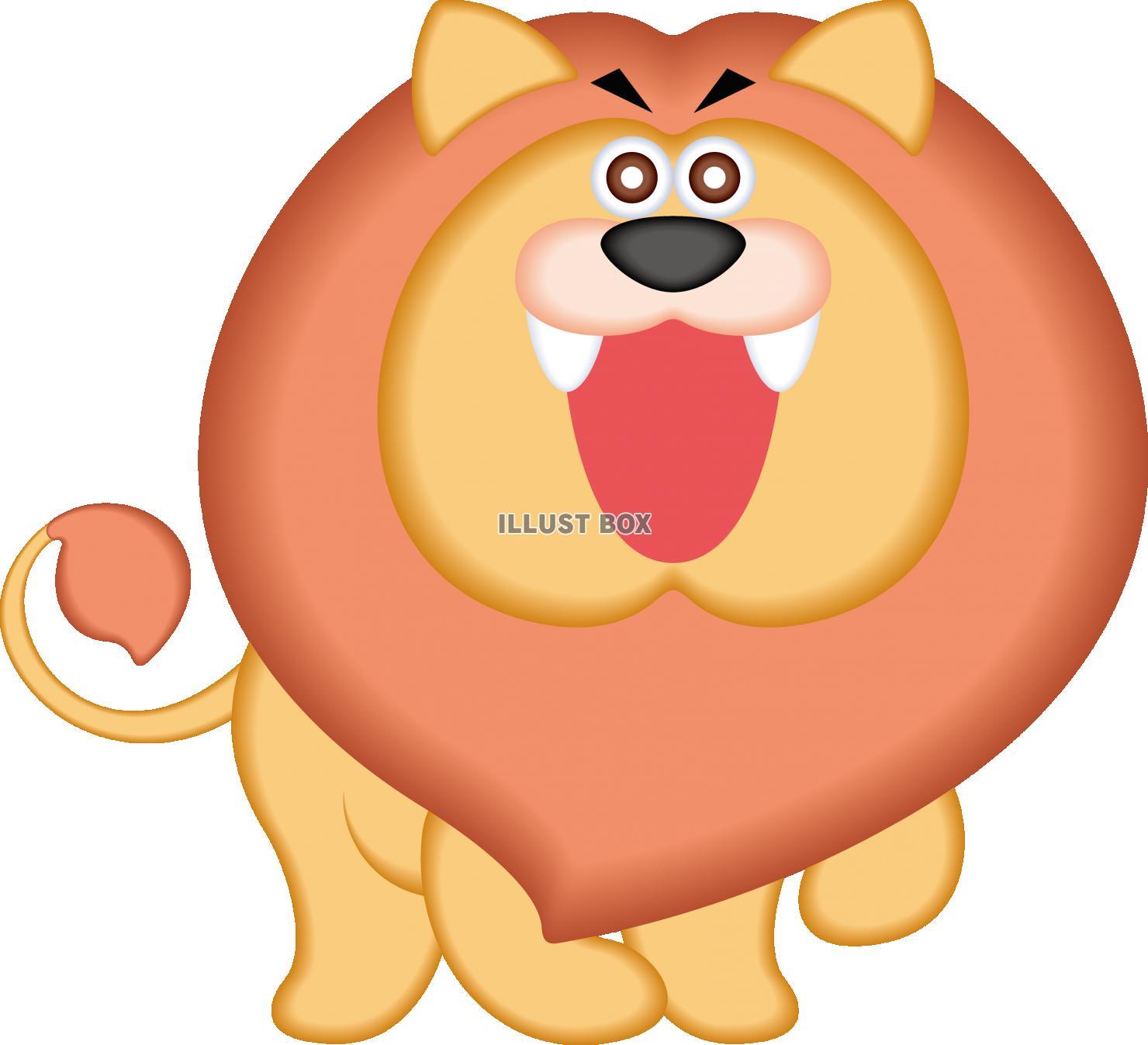 無料イラスト 動物 キャラクター ライオン