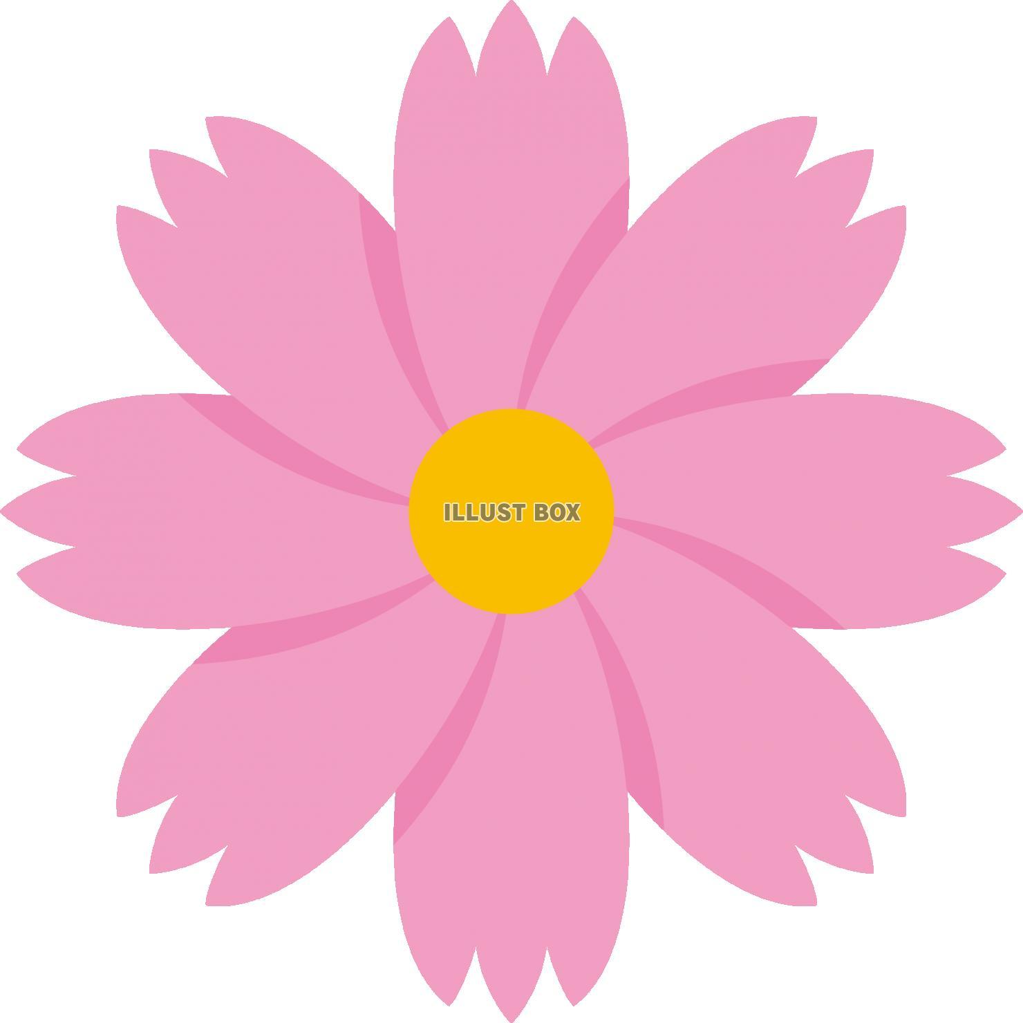 無料イラスト 花 フラワー コスモス