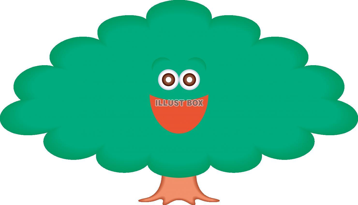 無料イラスト 森の仲間 キャラクター 木