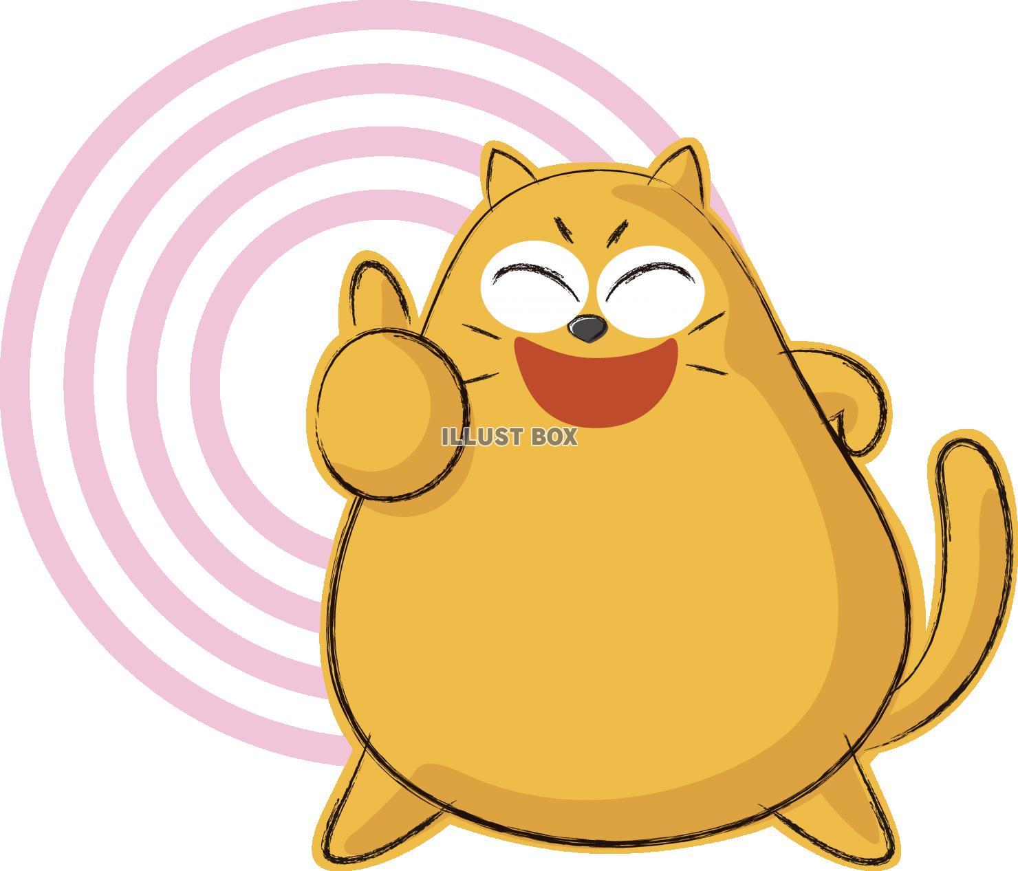 無料イラスト 可愛いネコ キャラクター いいね