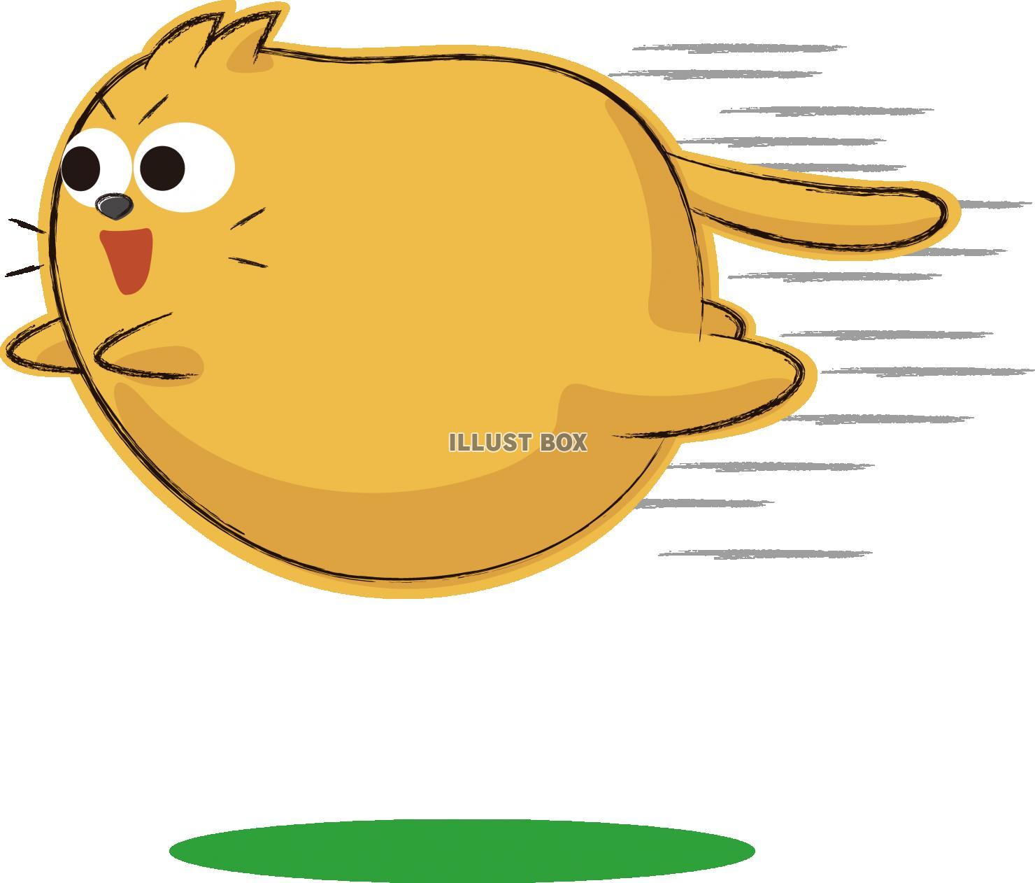 無料イラスト 可愛いネコ キャラクター 飛ぶ