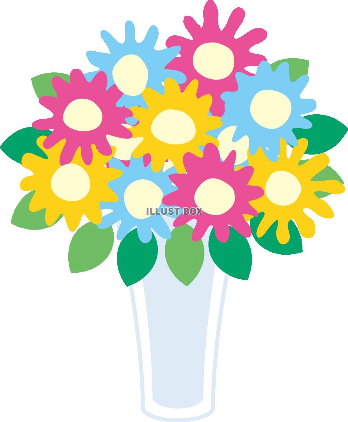 無料イラスト 花瓶の花