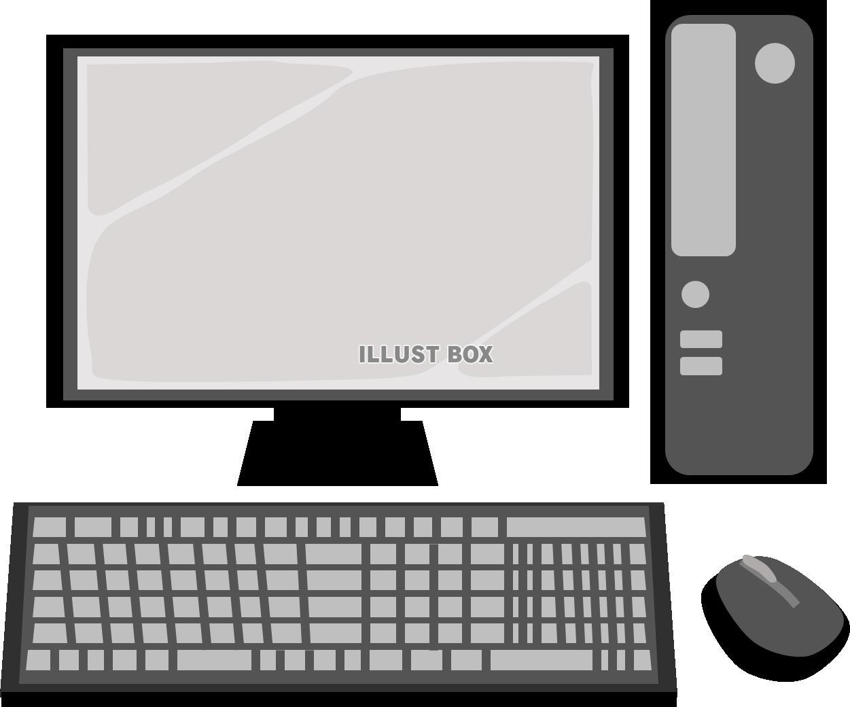 無料イラスト デスクトップパソコン