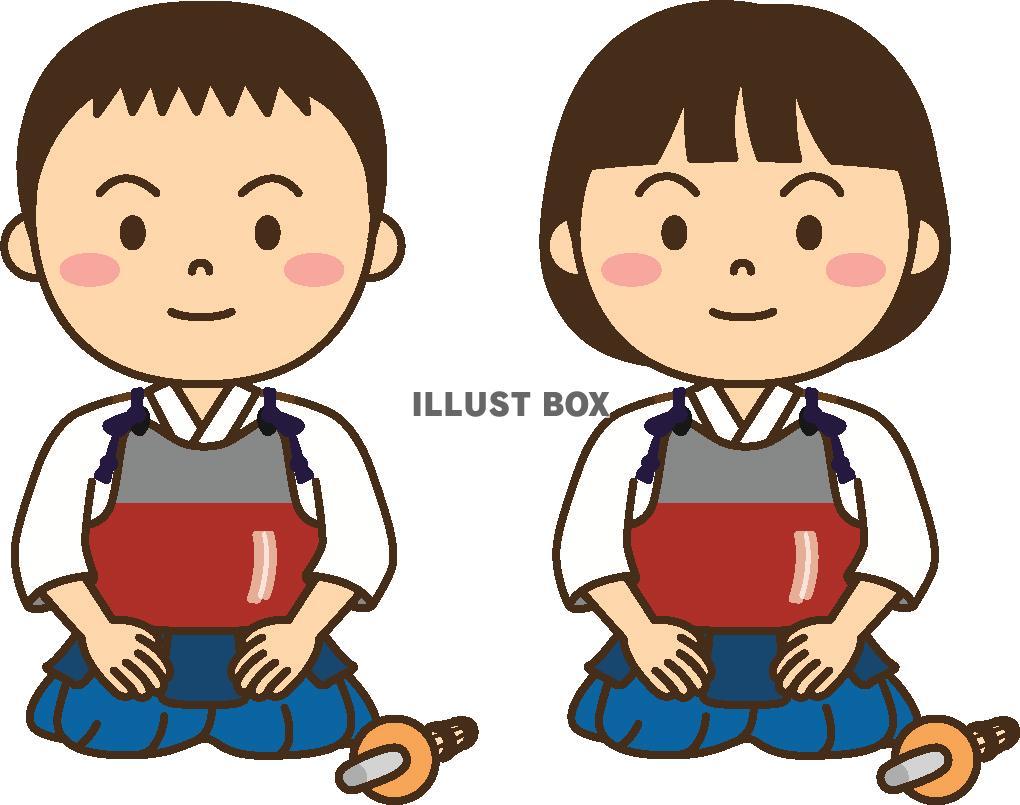 無料イラスト 子供の剣道2
